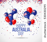 happy australia day 26 january... | Shutterstock .eps vector #530430295