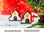 merry christmas and happy new... | Shutterstock . vector #530433439