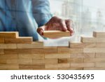 businessman realizes his... | Shutterstock . vector #530435695