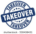 takeover. stamp. blue round... | Shutterstock .eps vector #530438431