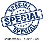 special. stamp. blue round...   Shutterstock .eps vector #530442121