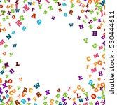 Abstract Colorful Alphabet...