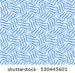 blue color. abstract floral... | Shutterstock .eps vector #530445601