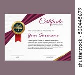 certificate template with... | Shutterstock .eps vector #530445679