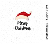 christmas typographic label.... | Shutterstock .eps vector #530446495