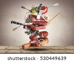 meat and beef meatballs with... | Shutterstock . vector #530449639
