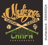 madison baseball club  vector...   Shutterstock .eps vector #530450524