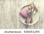 love  valentine's day or eating ... | Shutterstock . vector #530451295