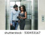 business people standing in... | Shutterstock . vector #530453167