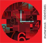 face clock vector background | Shutterstock .eps vector #530455681