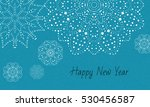 cute blue card with snowflakes. ... | Shutterstock .eps vector #530456587