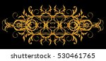 horizontal floral element with... | Shutterstock . vector #530461765