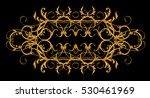 horizontal floral element with... | Shutterstock . vector #530461969