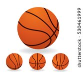 basketball isolated on a white... | Shutterstock .eps vector #530461999
