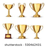 gold cup isolated on white... | Shutterstock .eps vector #530462431