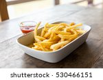french fries dish on the table  ... | Shutterstock . vector #530466151