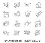 hobbies set of vector icons | Shutterstock .eps vector #530468179