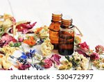 bright dried medicinal herbs... | Shutterstock . vector #530472997