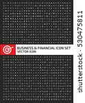 business and finance icon set... | Shutterstock .eps vector #530475811