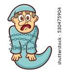 ebenezer scrooge ghost cartoon | Shutterstock .eps vector #530475904