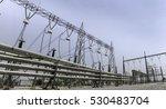 electrcity station 230 kv and... | Shutterstock . vector #530483704