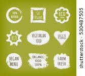 a set of stickers with the text ... | Shutterstock .eps vector #530487505