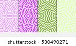 set of decorative floral... | Shutterstock .eps vector #530490271