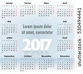 french calendar for 2017 year... | Shutterstock . vector #530494441