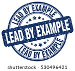 lead by example. stamp. blue...   Shutterstock .eps vector #530496421