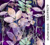 art vintage watercolor floral...   Shutterstock . vector #530499079