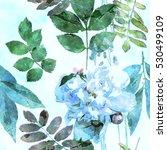 art vintage watercolor floral...   Shutterstock . vector #530499109