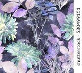 art vintage watercolor floral...   Shutterstock . vector #530499151