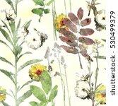 art vintage watercolor floral...   Shutterstock . vector #530499379
