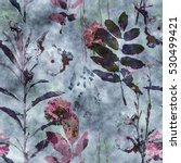 art vintage watercolor floral... | Shutterstock . vector #530499421