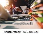 business team meeting present... | Shutterstock . vector #530501821