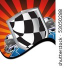 racing sign on the ray... | Shutterstock . vector #53050288