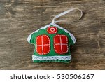 christmas decorations on wooden ... | Shutterstock . vector #530506267