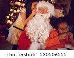 christmas concept   young girl...   Shutterstock . vector #530506555