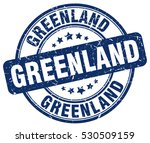 greenland. stamp. blue round... | Shutterstock .eps vector #530509159