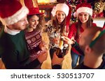 friends open midnight champaign ... | Shutterstock . vector #530513707