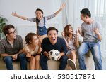 young friends cheering for... | Shutterstock . vector #530517871