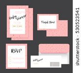 baby shower invitation with... | Shutterstock .eps vector #530523541