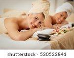 cute young woman enjoying... | Shutterstock . vector #530523841