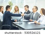 business meeting at the table... | Shutterstock . vector #530526121