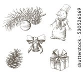 christmas and new year objects...   Shutterstock .eps vector #530526169