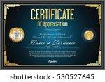 certificate retro design... | Shutterstock .eps vector #530527645
