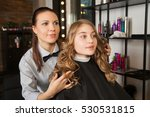 hairdresser shows result | Shutterstock . vector #530531815