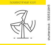 Rotating Windmill Linear Icon....