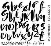 hand drawn font made by dry... | Shutterstock .eps vector #530533705