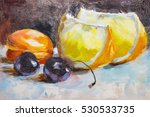 Texture Oil Painting Fruit...